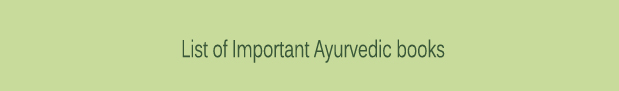 List-of-Important-Ayurvedic-books