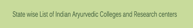 Statewise-List-of-Indian-Aryurvedic-Colleges-and-Research-centers
